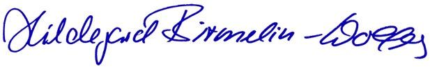 Unterschrift Hildegard Birmelin-Wolfers und Anja Steinle